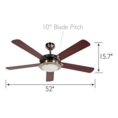 Eastport 52 in. Satin Nickel Ceiling Fan with Light Kit