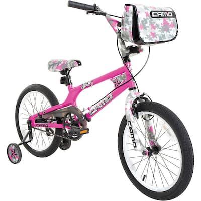 18 in. Girls Camo Decoy Bike