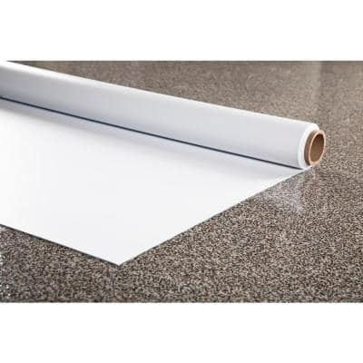 Greenhouse/Grow Room Absolute White Ceramic Commercial/Residential Vinyl Sheet Flooring 10 ft. x 61 ft.