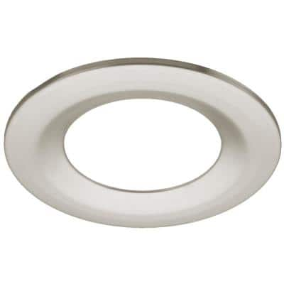 4in. Brushed Nickel Trim Cover Compatible Only with Commercial Electric and ETi 4 in. Canless LED Recessed Downlights