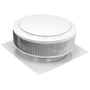 14 in. White Powder Coated Aluminum Static Roof Vent No Moving Parts Wind Turbine