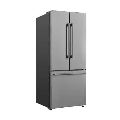29 in. W 16.0 cu. ft. French Door Refrigerator in Stainless Steel, Ice Maker