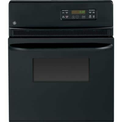 24 in. Single Electric Wall Oven Self-Cleaning in Black