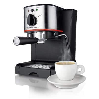 2-Cup Stainless Steel Automatic Espresso Machine with Milk Frother