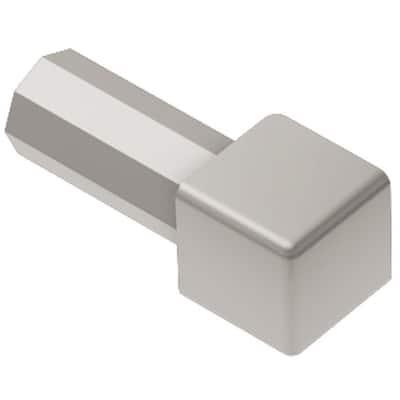Quadec Satin Nickel Anodized Aluminum 3/8 in. x 1 in. Metal Inside/Outside Corner