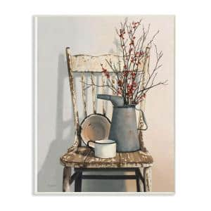 10 in. x 15 in. ''Vintage Rustic Things Neutral Painting'' by Cecile Baird Wood Wall Art