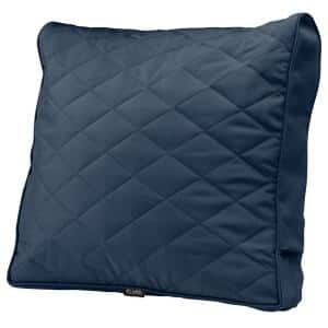 Montlake FadeSafe 25 in. x 22 in. x 4 in. Navy Rectangular Patio Chair/Loveseat Back Quilted Cushion