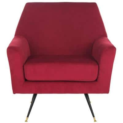 Nynette Maroon Accent Chair