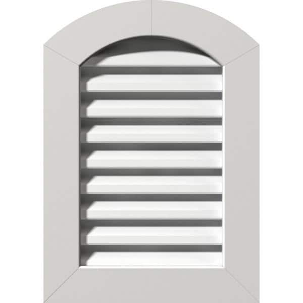 Ekena Millwork 18 In X 24 In Arch Top Gable Vent Functional With Flat Trim Frame Gvpar18x2401fun The Home Depot