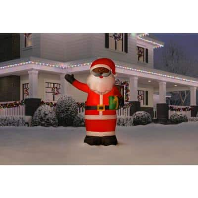 6.5 ft. LED Outdoor Inflatable Black Santa