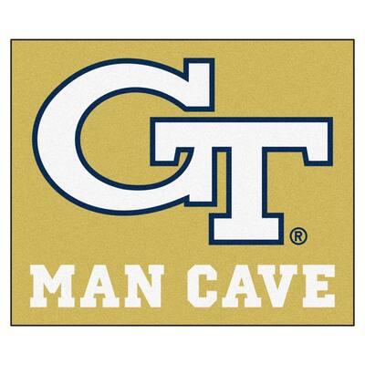 Georgia Tech Gold Man Cave 5 ft. x 6 ft. Area Rug