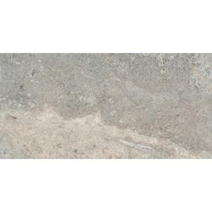 Trav Crosscut Silver 12.01 in. x 24.02 in. Honed Stone Look Travertine Floor & Wall Tile (2.003 sq. ft./Each)