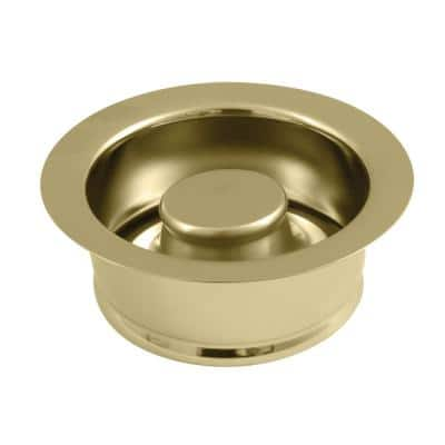 4-1/2 in. D Brass Garbage Disposal Flange and Stopper in Brushed Brass