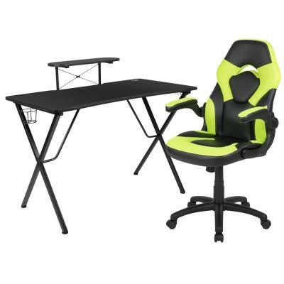 51.5 in Rectangular Green Computer Desk
