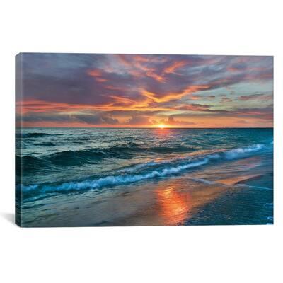 Sunset Over Ocean, Gulf Islands National Seashore, Florida by Tim Fitzharris Wall Art