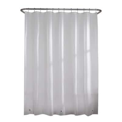 PEVA Heavy 7-Gauge 70 in. W x 72 in. H Shower Curtain Liner in Frosted Clear