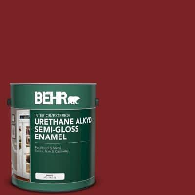 1 gal. #SC-112 Barn Red Urethane Alkyd Semi-Gloss Enamel Interior/Exterior Paint