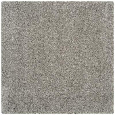 California Shag Silver 5 ft. 3 in. x 5 ft. 3 in. Square Area Rug