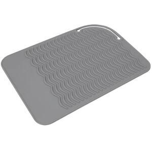 Grey Ridged Plastic Non-Skid Sponge Mat