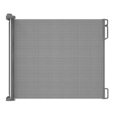 33 in. H Outdoor Retractable Gate, Extra Wide, Gray