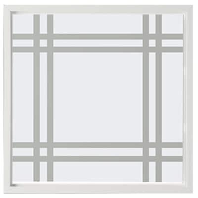 23.5 in. x 23.5 in. Prairie Decorative Glass Picture Vinyl Window - White