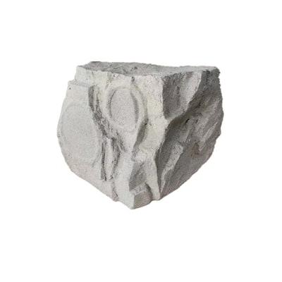 10 in. 300-Watt White Granite 3-Way Outdoor Rock Speaker