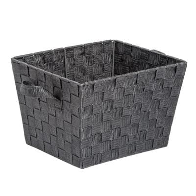 12 in. D x 10 in. W x 8 in. H Charcoal Woven Baskets (Set of 2)