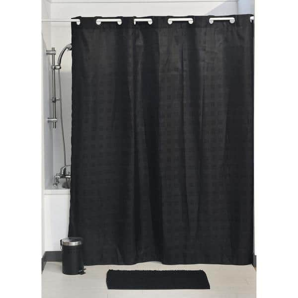 180 Cm X 200 Black Hookless Shower, What Color Goes With Gray Shower Curtain