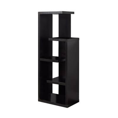 47.25 in. Jasmine Particle Board Cappuccino 5-Shelf Bookcase