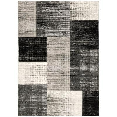 Paramount Gray 2 ft. x 3 ft. Plaid Scatter Area Rug