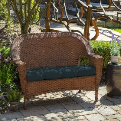 Atlantis Woven Outdoor Tufted Contoured Bench Cushion