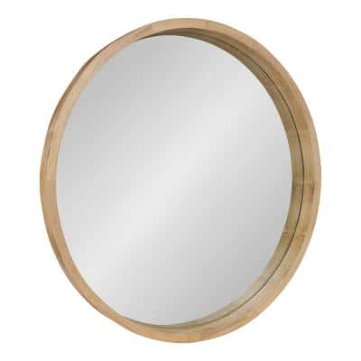 Medium Round Natural Contemporary Mirror (30 in. H x 30 in. W)