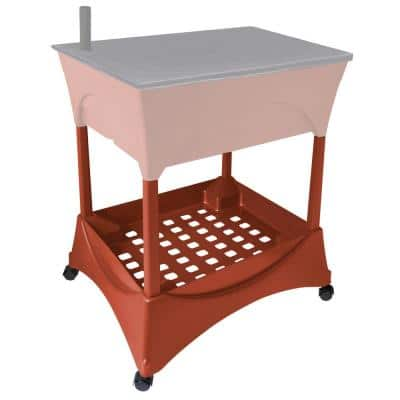 Raised Garden Bed Stand Accessory Kit in Terracotta