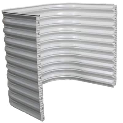 50 in. W x 60 in. H x 36 in. Projection White Steel Egress Window Well