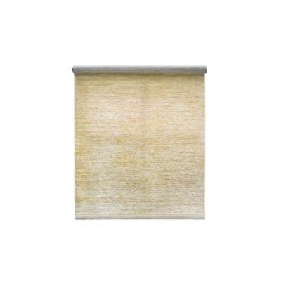 Cut-to-Size Heather Tan Cordless Light Filtering Natural Fiber Roller Shade 37.25 in. W x 72 in. L