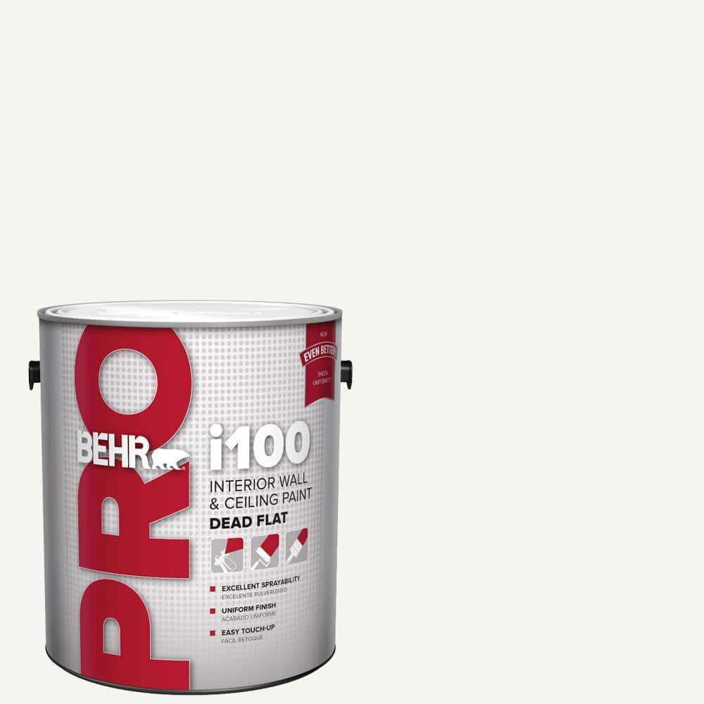 Behr Pro 1 Gal I100 White Base Dead Flat Interior Paint Pr10501 The Home Depot