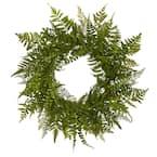 24 in. Mixed Fern Wreath