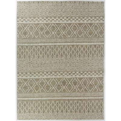 Global Tan 5 ft. x 7 ft. Indoor/Outdoor Area Rug