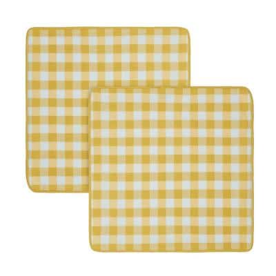 Buffalo Check Yellow Woven 18 in. x 18 in. Throw Pillow Covers (Set of 2)
