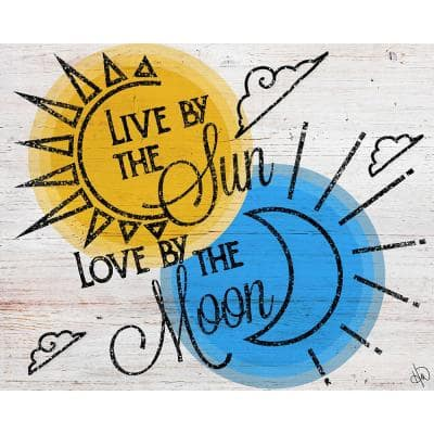 """11 in. x 14 in. """"Live by the Sun Love by the Moon"""" Acrylic Wall Art Print"""