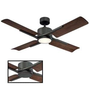 Cervantes 56 in. LED Indoor/Outdoor Oil Rubbed Bronze 4-Blade Smart Ceiling Fan with 3000K Light Kit and Remote Control