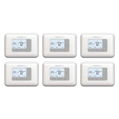 T3 5-2 Day Programmable Thermostat with 2H/2C Multistage Heating and Cooling (6-Pack)