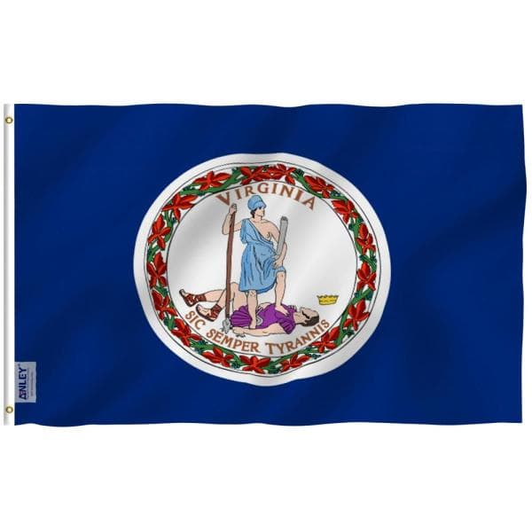 Anley Fly Breeze 3 Ft X 5 Ft Polyester Virginia State Flag 2 Sided Flags Banners With Brass Grommets And Canvas Header A Flag Statevirginia The Home Depot