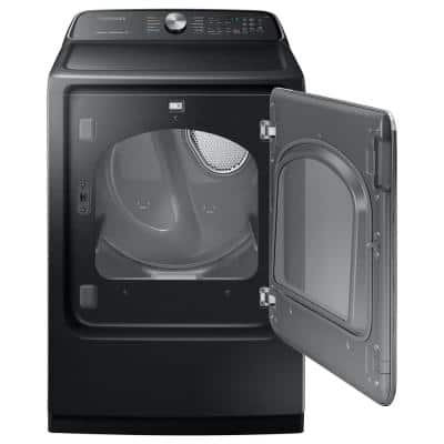 7.4 cu. ft. 240-Volt Black Stainless Steel Electric Dryer with Steam Sanitize ENERGY STAR