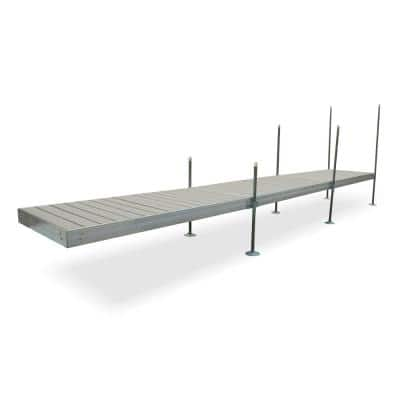 24 ft. Long Straight Aluminum Frame with Decking Complete Dock Package