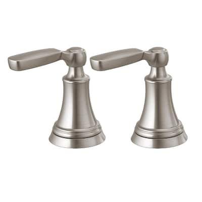 Woodhurst Bathroom Faucet Handle Kit in Stainless