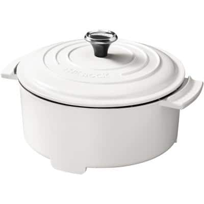 THE ROCK 3.2 Qt. White Electric Casserole Slow Cooker