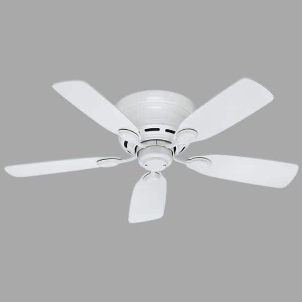 Hunter Low Profile 42 In Indoor Snow White Ceiling Fan 51059 The Home Depot