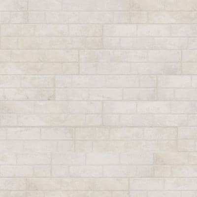 Painted Brick White 6 in. x 24 in. Textured Porcelain Floor and Wall Tile (14 sq. ft./Case)