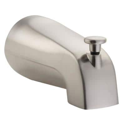 Pulse Brass Tub Spout with NPT Connection in Brushed-Nickel